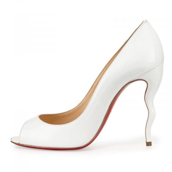 Christian Louboutin Jolly 100 White Patent leather
