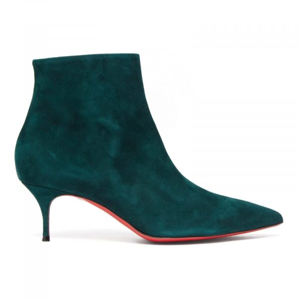 Christian Louboutin So Kate 55 Booty Emerald Green Suede