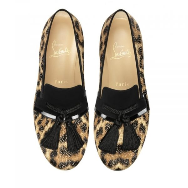 Christian Louboutin Authentic By The Sofa Leopard Loafers