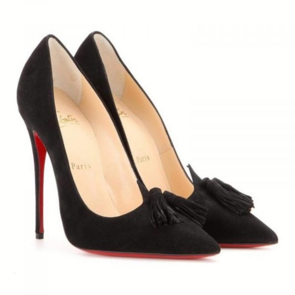 Christian Louboutin Authentic Gwalior 120, Black Suede