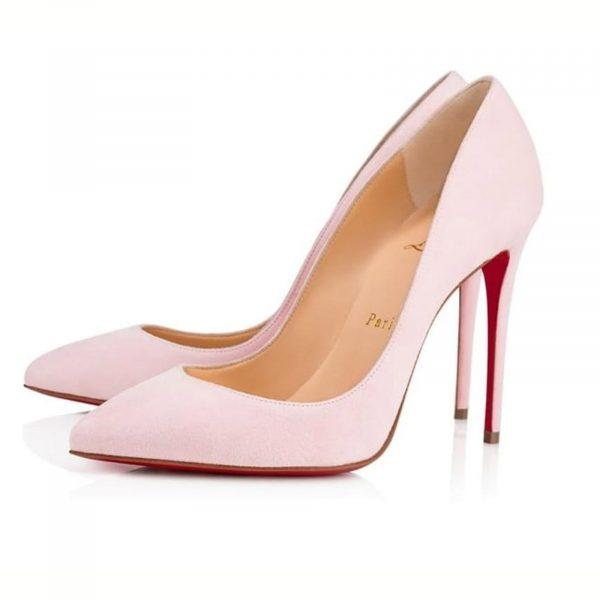 Christian Louboutin Pigalle Follies 100 Pompadour Pink Suede