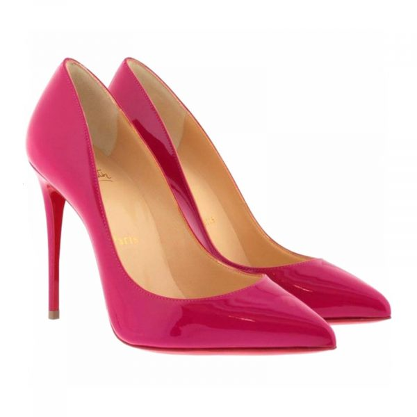 Christian Louboutin Pigalle Follies 100, Pink Patent Leather