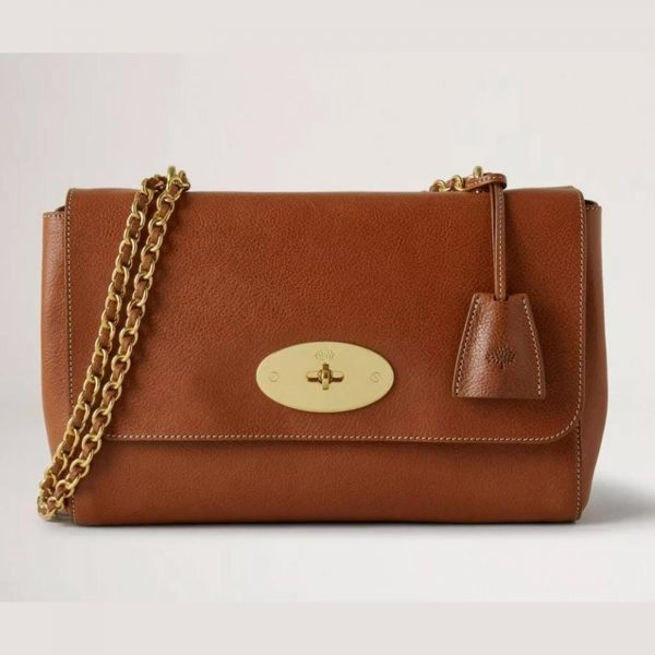 MULBERRY Authentic Medium Lily Natural Veg Tan in Oak