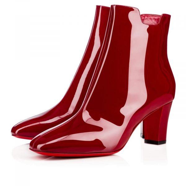 Christian Louboutin Authentic Tiagada boot 70 Carmin, Deep Red