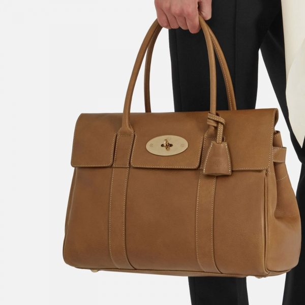 MULBERRY Authentic Bayswater Natural Veg Tan Oak