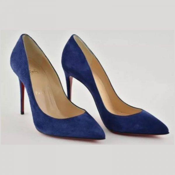 Christian Louboutin Pigalle Follies 100, China Blue Suede